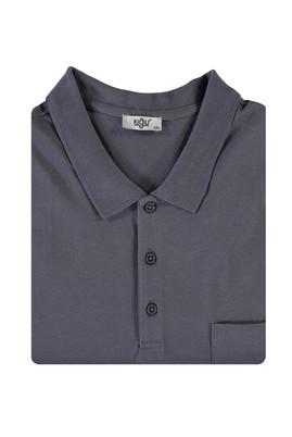 Erkek Giyim - ORTA GRİ 4X Beden King Size Polo Yaka Tişört