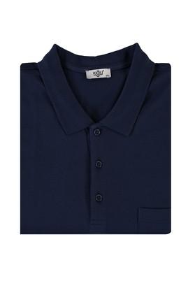 Erkek Giyim - KOYU LACİVERT 5X Beden King Size Polo Yaka Tişört