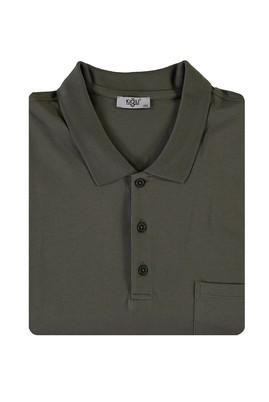 Erkek Giyim - ORTA HAKİ 4X Beden King Size Polo Yaka Tişört