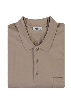 Erkek Giyim - KOYU VİZON 4X Beden King Size Polo Yaka Tişört