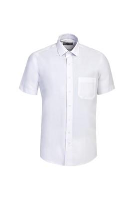 Erkek Giyim - BEYAZ L Beden Kısa Kol Klasik Gömlek