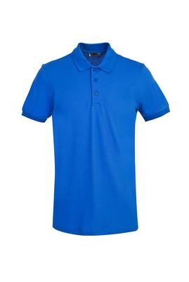 Erkek Giyim - KOBALT MAVİ L Beden Polo Yaka Slim Fit Tişört