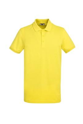 Erkek Giyim - LİMON SARI L Beden Polo Yaka Slim Fit Tişört