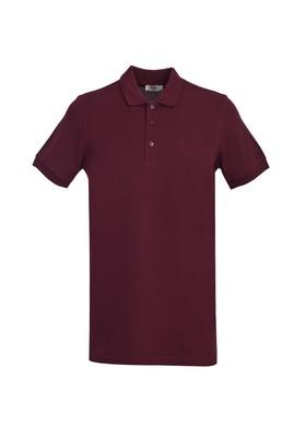 Erkek Giyim - VİŞNE 3X Beden Polo Yaka Slim Fit Tişört