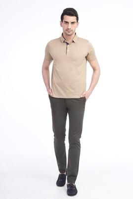 Erkek Giyim - KOYU YESİL 50 Beden Slim Fit Saten Spor Pantolon