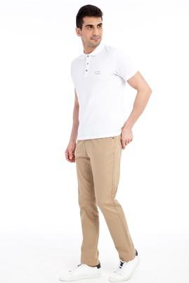 Erkek Giyim - Bej 52 Beden Kuş Gözü Spor Pantolon