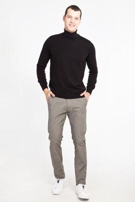 Erkek Giyim - ORTA FÜME 52 Beden Desenli Spor Pantolon
