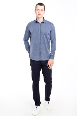 Erkek Giyim - LACİVERT 60 Beden Desenli Spor Pantolon