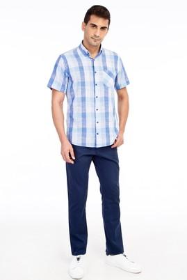 Erkek Giyim - KOYU MAVİ 52 Beden Desenli Spor Pantolon