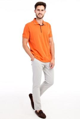 Erkek Giyim - Açık Gri 54 Beden Slim Fit Desenli Spor Pantolon