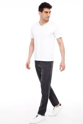Erkek Giyim - SİYAH 48 Beden Spor Desenli Pantolon