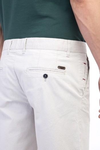 Erkek Giyim - Slim Fit Desenli Bermuda Şort