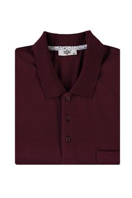 Erkek Giyim - KOYU BORDO 4X Beden King Size Polo Yaka Tişört