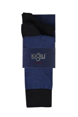 Erkek Giyim - SAKS MAVİ 40 Beden 2'li Desenli Çorap