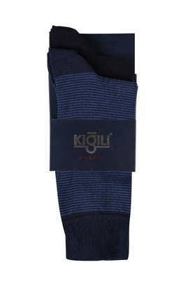 Erkek Giyim - İNDİGO 40 Beden 2'li Desenli Çorap