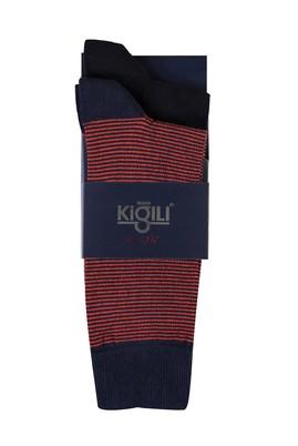 Erkek Giyim - AÇIK TURUNCU 40-44 Beden 2'li Desenli Çorap