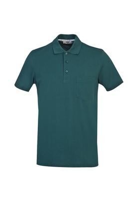 Erkek Giyim - ZÜMRÜT YEŞİLİ XXL Beden Polo Yaka Regular Fit Tişört
