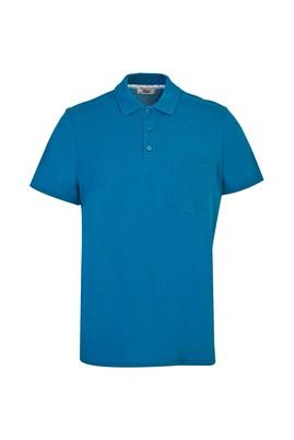 Erkek Giyim - PETROL YEŞİLİ M Beden Polo Yaka Düz Regular Fit Tişört
