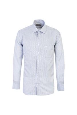 Erkek Giyim - KOYU MAVİ L Beden Uzun Kol Klasik Ekose Gömlek