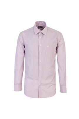 Erkek Giyim - VİŞNE 3X Beden Uzun Kol Klasik Çizgili Gömlek