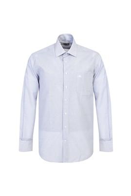 Erkek Giyim - KOYU MAVİ XXL Beden Uzun Kol Regular Fit Spor Baskılı Gömlek