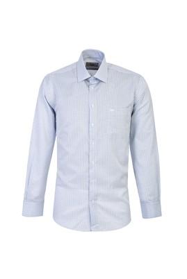 Erkek Giyim - AÇIK MAVİ M Beden Uzun Kol Klasik Ekose Gömlek
