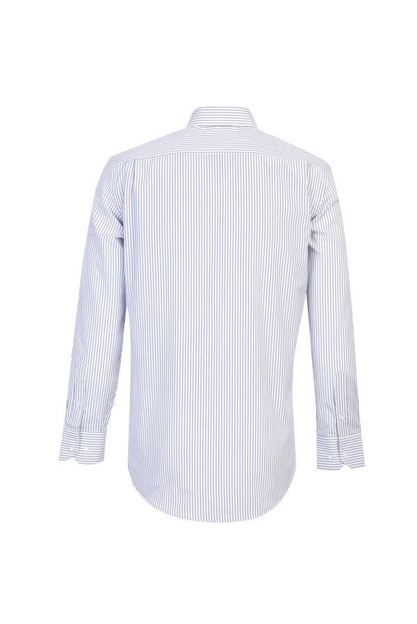 Uzun Kol Klasik Çizgili Gömlek