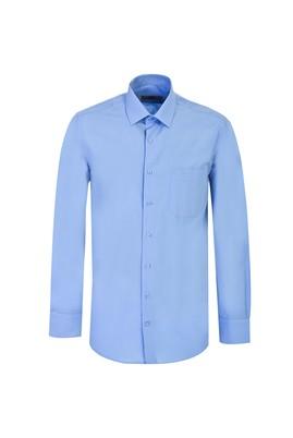 Erkek Giyim - KOYU MAVİ 4X Beden Uzun Kol Klasik Gömlek