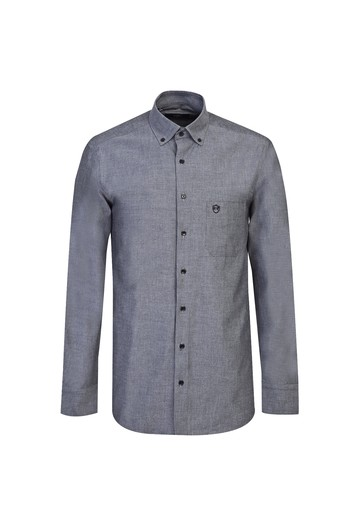 Erkek Giyim - Uzun Kol Oxford Spor Gömlek