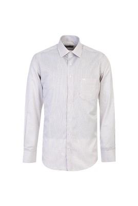 Erkek Giyim - KREM XL Beden Uzun Kol Klasik Ekose Gömlek