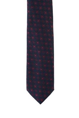 Erkek Giyim - KOYU LACİVERT 70 Beden Desenli Kravat