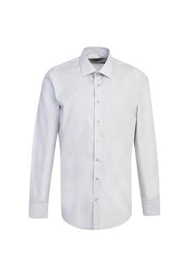 Erkek Giyim - AÇIK GRİ XL Beden Uzun Kol Spor Slim Fit Gömlek