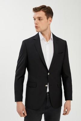 Erkek Giyim - SİYAH 52 Beden Yünlü Blazer Ceket