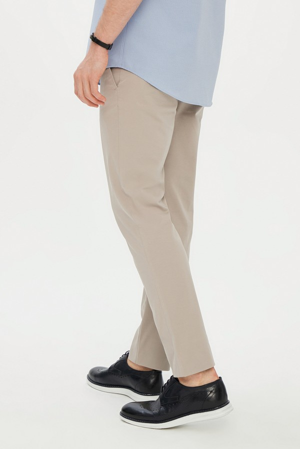 Slim Fit Spor Desenli Pantolon