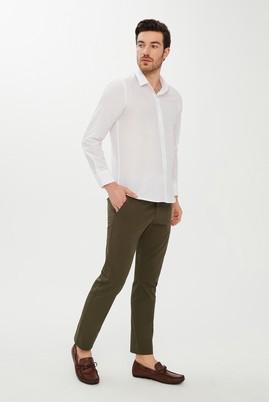 Erkek Giyim - HAKİ 52 Beden Slim Fit Spor Desenli Pantolon