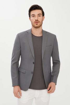 Erkek Giyim - ORTA FÜME 54 Beden Klasik Yünlü Blazer Ceket