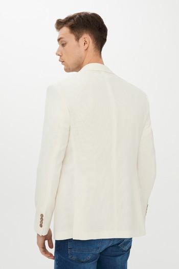 Erkek Giyim - Slim Fit Spor Yünlü Ceket