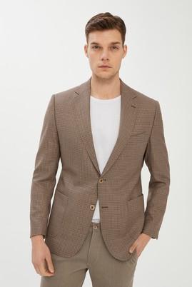 Erkek Giyim - KAHVE 50 Beden Kuşgözü Spor Ceket