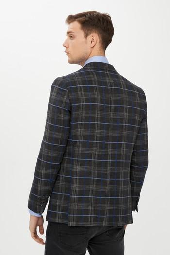 Erkek Giyim - Ekose Klasik Ceket