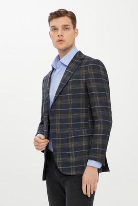 Erkek Giyim - SİYAH 48 Beden Ekose Klasik Ceket