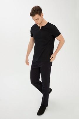 Erkek Giyim - SİYAH S Beden Bisiklet Yaka Slim Fit Tişört