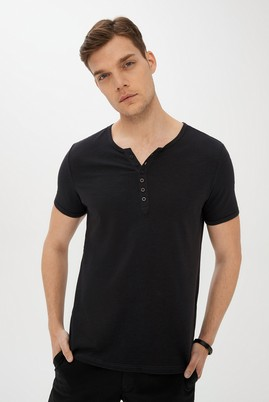 Erkek Giyim - KOYU ANTRASİT XXL Beden Bisiklet Yaka Slim Fit Tişört