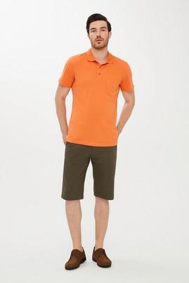 Erkek Giyim - HAKİ 50 Beden Slim Fit Desenli Bermuda Şort