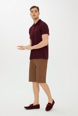 Erkek Giyim - TOPRAK 48 Beden Slim Fit Desenli Bermuda Şort