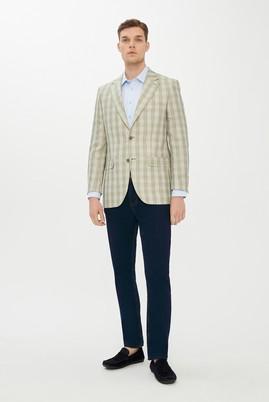 Erkek Giyim - ACIK YESIL 52 Beden Ekose Klasik Ceket