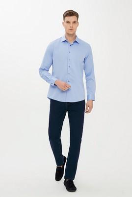 Erkek Giyim - LACİVERT 50 Beden Slim Fit Denim Pantolon