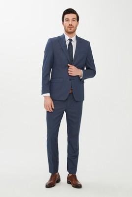 Erkek Giyim - MAVİ 48 Beden Yünlü Kuşgözü Takım Elbise
