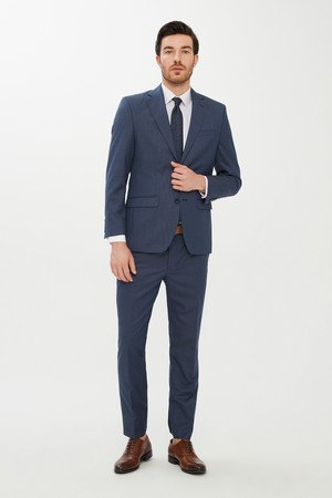 Erkek Giyim - Yünlü Kuşgözü Takım Elbise