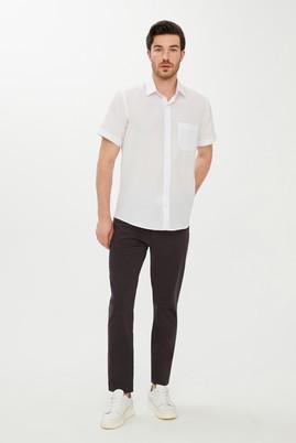 Erkek Giyim - ANTRASİT 54 Beden Slim Fit Spor Desenli Pantolon