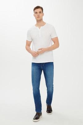 Erkek Giyim - MAVİ 50 Beden Slim Fit Denim Pantolon